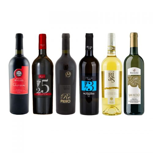 White and Red Wines Selection